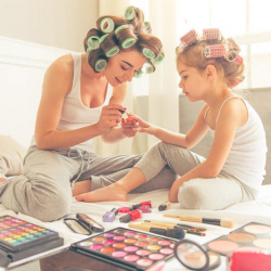 Mother and Daughter Manicures